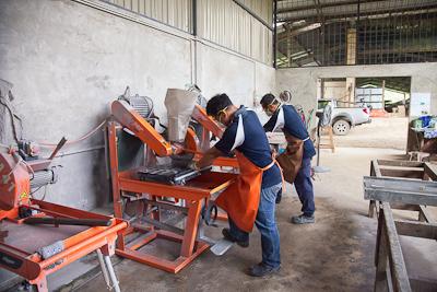 Bau - Core cutting room
